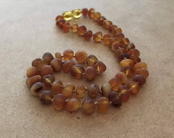 Raw Cognac Amber Necklace, Raw Amber, Natural Amber Necklace, Raw Amber Necklace, Amber Beaded Necklace, Amber Jewellery, Natural Amber