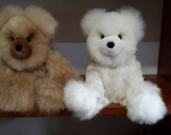"""New 100% natural baby alpaca fur teddy bear """" It is incredibly soft """""""