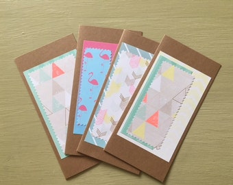 Handmade Greetings Cards - Pack Of Four - Perfect For Any Occasion!