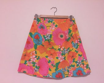 Floral a-line skirt size 10