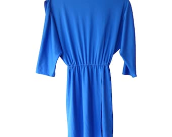 Vintage 70's Electric Blue Disco Retro Dress 8-10