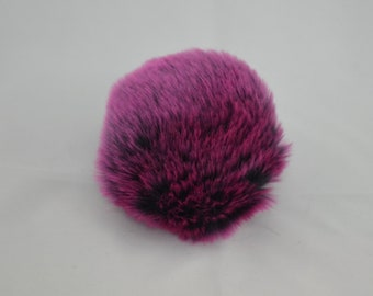 SALE Midnight Cabaret Faux Fur Pom Pom