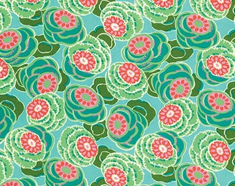 Clouded Floral Seaglass - Dream Weaver - Amy Butler - 100% Quilters Cotton Available in Yards, Half Yards and Fat Quarters