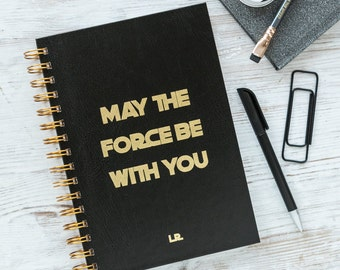 Personalised Star Wars May The Force Be With You Notebook
