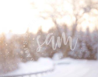 Snow Bokeh Digital Backdrop, Snow Bokeh Digital Backgrounds, Winter Background, Winter Backdrop, Snow overlay, Christmas Backdrop, Creamy
