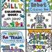 SET of 4 Printable Digital PDF Coloring Books - Jokes, Kids, Train, Monsters, Robots