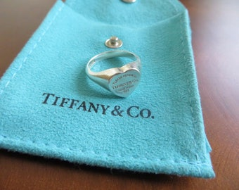 Lovely Iconic Authentic Return To Tiffany Heart Ring, Size 6.5