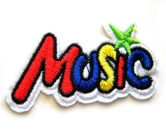 Music Embroidered Patch Appliqué