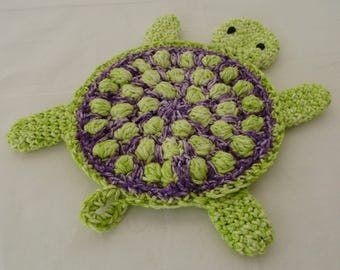 Turtle Wash Cloth, Dish Cloth, Pot Holder