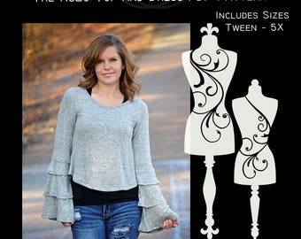 The RuLo Top and Dress (Women's Sizes) PDF Sewing Pattern