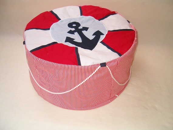 NAUTICAL   Bean Bag, Childrens Pouf ,  Kids Chair,  Nursery,  Toddler Gift