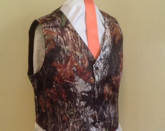 Camo Men's Regular Size Small, Medium, Large, XLarge Vest