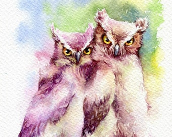 """PRINT – With you Watercolor painting 7.5 x 11"""""""