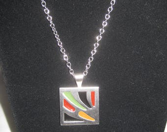 """22"""" Silver Tone Necklace with Sara Coventry Pendant"""