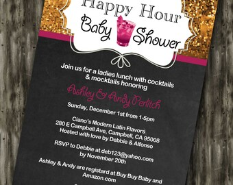Happy Hour Baby Shower Invite