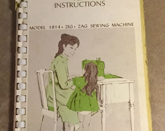 Vintage Sears Kenmore Instructions How To Manual for Model 1914 Zig Zag Sewing Machine