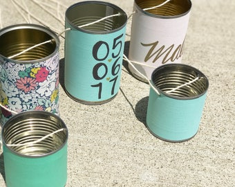 Personalized Wedding Tin Cans - Just Married/Make Some Noise/Car Cans/Aluminum Cans/Bride/Groom/Custom/Wedding/Tin Cans/Rustic/Chic/Charm