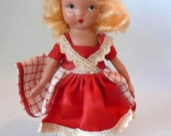 Nancy Ann's Where are you going my Pretty Maid Doll in Red