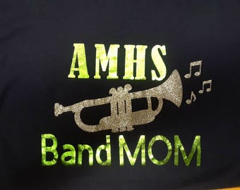 Personalized Band Mom Long Sleeve Shirt
