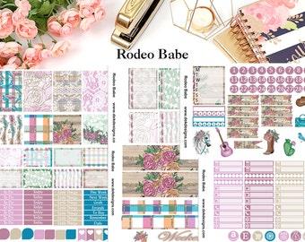 Rodeo Babe, 6 sheet weekly kit//EC//HP classic, large mini