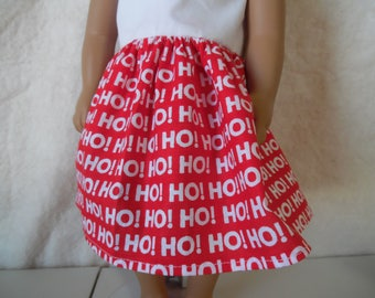 White and Red HOHO dress for American Girl dolls, Springfield dolls
