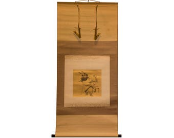 Shoki on Gold Paper Scroll - FREE SHIPPING