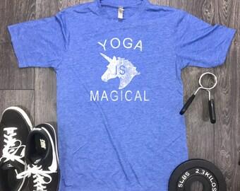 Yoga is Magical mens shirt, mens yoga shirt, yoga shirt for men, funny yoga shirt, yoga shirt funny, hot yoga, chaturanga, downward dog