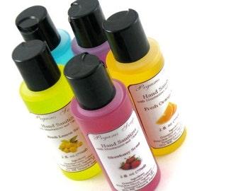 Reduced--Scented Hand Sanitizer with Vitamin E 2 oz~Skin Care~Moisturizing~Aloe Vera