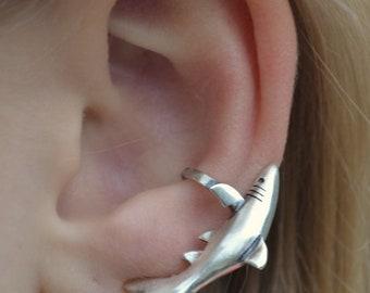 Ear Cuff - Shark - Ear Wrap - Ear Cuffs -