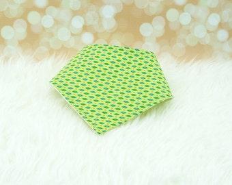 60% OFF SALE! Green Cateye Bandana Bib ||| bibdana, drool bib, dribble bib, bandana bib sale, bibdanna, baby bibdana, baby shower