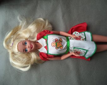 Barbie Doll 1990's special edition holiday treats ,Barbie Doll ,Vintage Barbie doll, Barbie doll with red dress