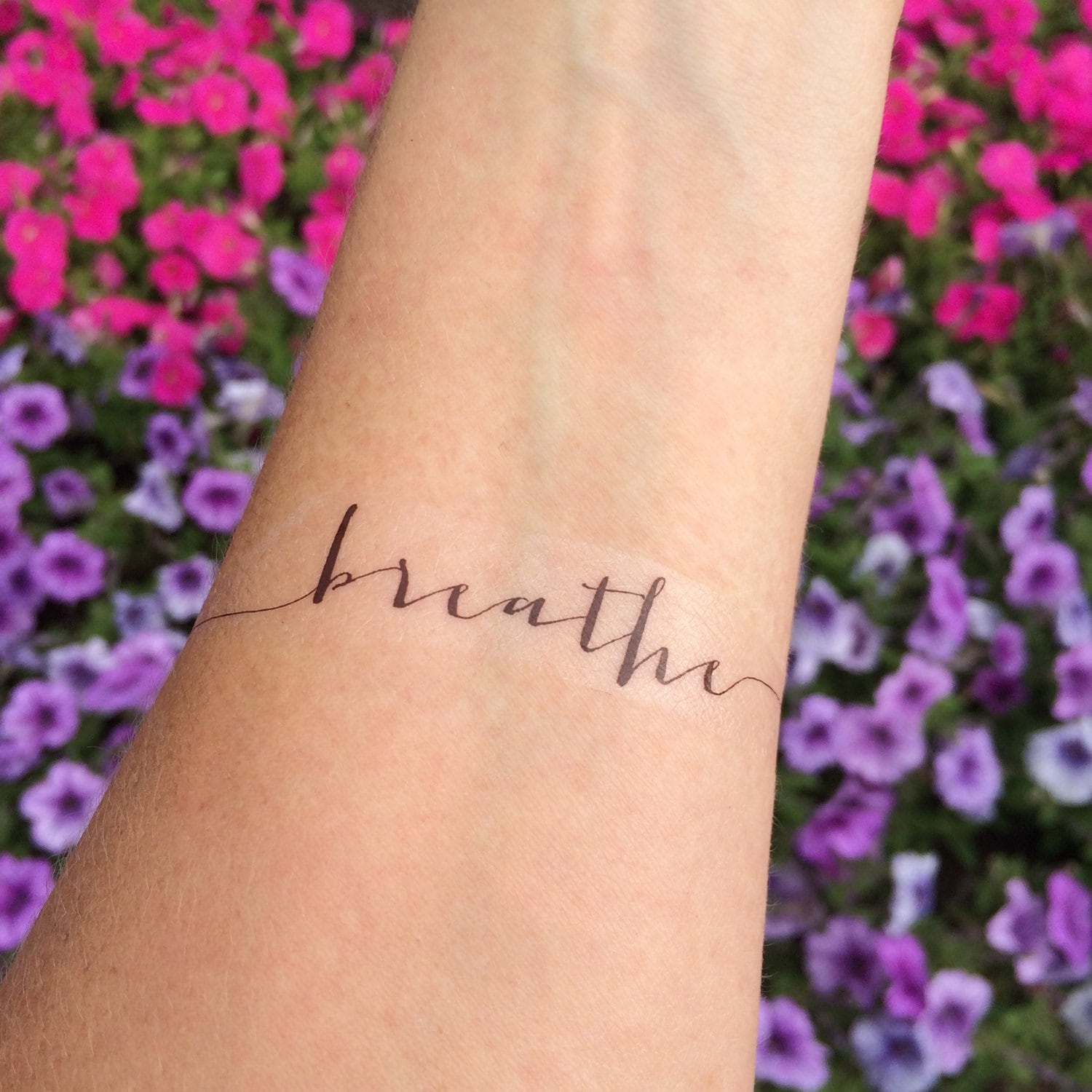 Breathe Tattoo Arm Tattoo Temporary Tattoo Fake Tattoo