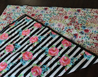 Baby Quilt, Floral
