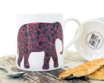 Indian Elephant China Mug