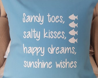 Sandy toes, salty kisses cushion - with pad - 3 COLOURS!