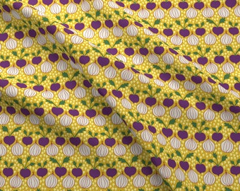 Onions and Beets Fabric - Onions By Abbyhersey - Onions Beets Yellow Farm Vegetables Kitchen Cotton Fabric By The Yard With Spoonflower
