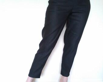 Negro de los años 1950 estilo pitillo, verdadero vintage fit.