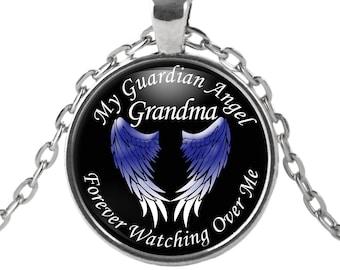 Guardian Angel Necklace - Grandma - My Grandma is my Guardian Angel Pendant - Angel Necklace - Memorial Jewelry Necklace for Grandma