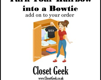 Turn Your Hairbow into a Bowtie - add one for each bowtie