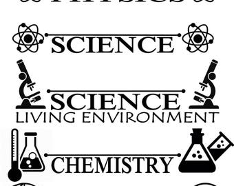 Custom Science teacher name and subject door decal