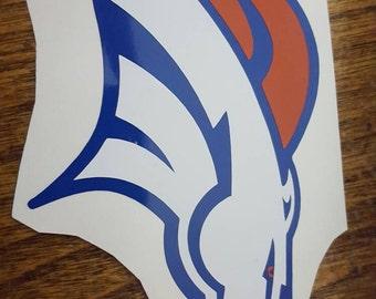Denver Broncos vinyl decal