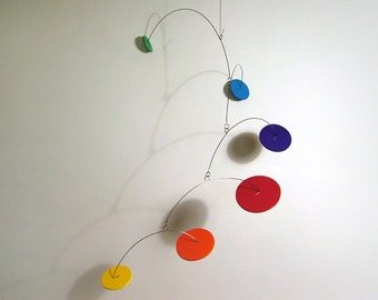 Prismo, Modern Art, Mobile, Handmade, by Julie Frith, Calder-Styled, Baby, Nursery, Home Decor, Custom, MCM