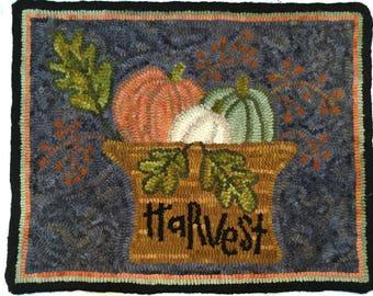 "Hand hooked wool rug 16""x 21"""