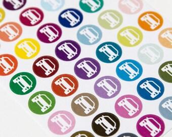 48 car sticker, track fuel cost, planner stickers, scrapbook reminder, petrol sticker, reminder stickers eclp filofax happy planner kikkik