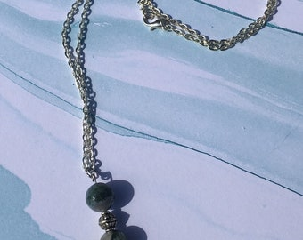 Elephant Beaded Silver Metal Necklace