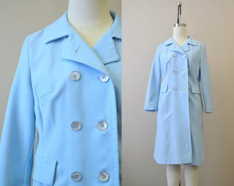 1970s Jerold Pale Blue Trench Coat
