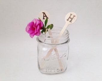 Custom Wood Drink Stirrers - Wedding Drink Stirrers - Wedding Decor - Rustic Wedding - Country Wedding - Bridal Shower Decor
