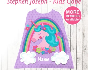 Unicorn Kids Cape, Personalized Cape, Little Girls Cape, Stephen Joseph Cape, Youth Cape, Unicorn