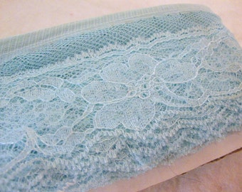 LACE soft aquamarine-- over 13 yards (472 inches)