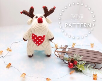 Ruby the Reindeer the pocket pal crochet pattern PDF